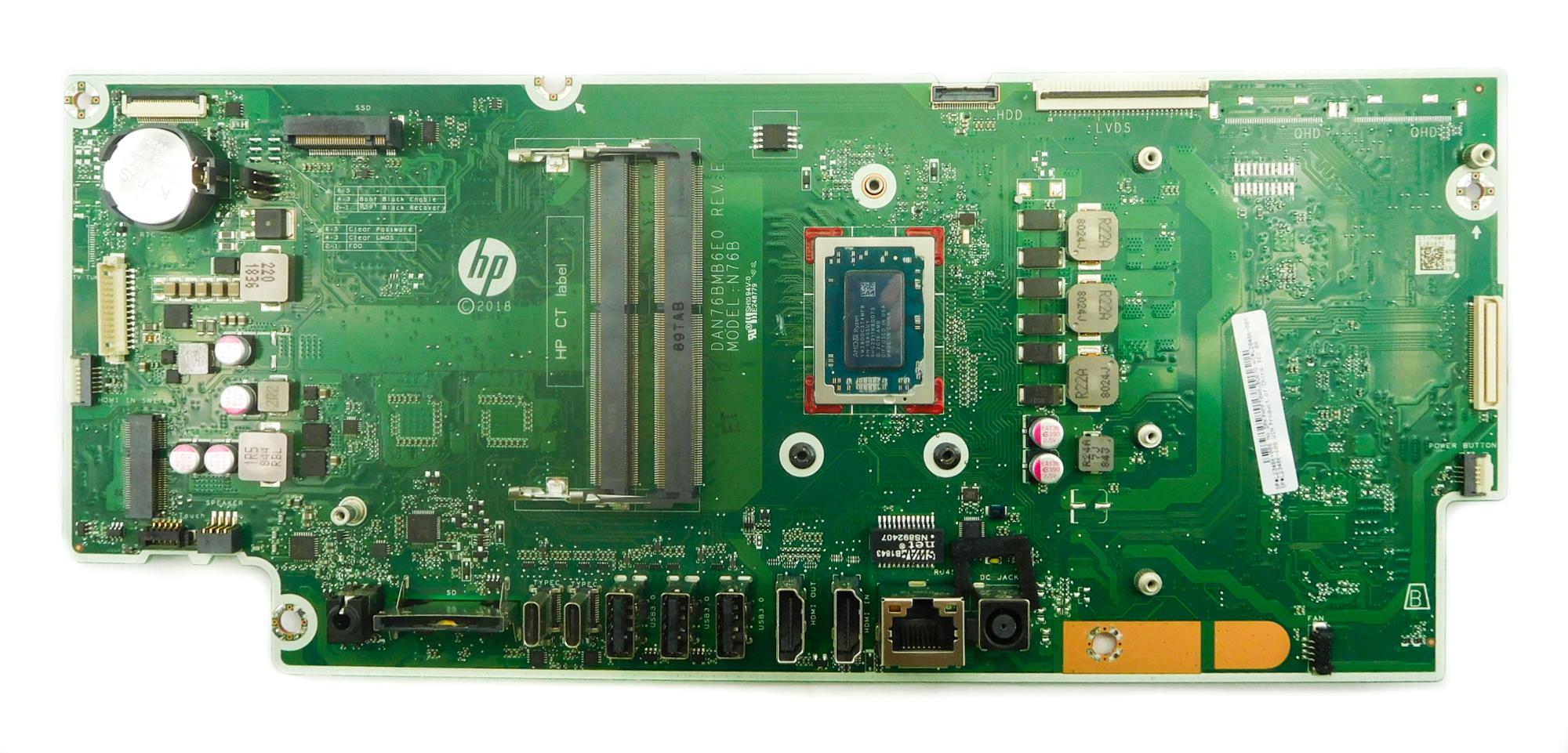 HP L20486-008 Pavilion 24-xa000 AIO PC Motherboard w/ BGA AMD Ryzen 7 2800H